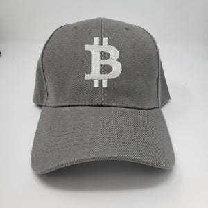 Bitcoin Logo Dark Gray Baseball Hat