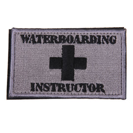 Waterboarding Instructor Patch Tactical Funny Hook & Loop Embroidered Patch  diy clothing patch applique blossom DIY Accessory