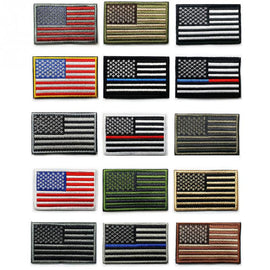 American Flag Embroidery Patch Embroidered Badge Patches Military Tactical Clothing Badges US Flag The Stars And Strips Armband