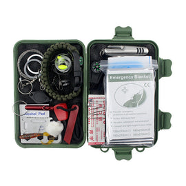 20 in 1 Multi-functional Tools Kit Fishing Outdoor Survival Emergency Set
