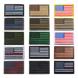 Stickers Appliques Army Military Morale Badge 18 Differents Styles Jeans Backpack American Flag Patch Tactical Armband Patches