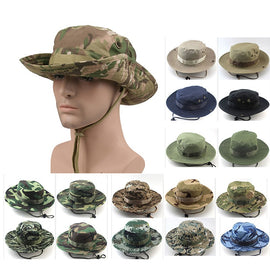 Multicam Boonie Hats Tactical Airsoft Sniper Camouflage Tree Bucket Cap Accessories Military Army American Military Men