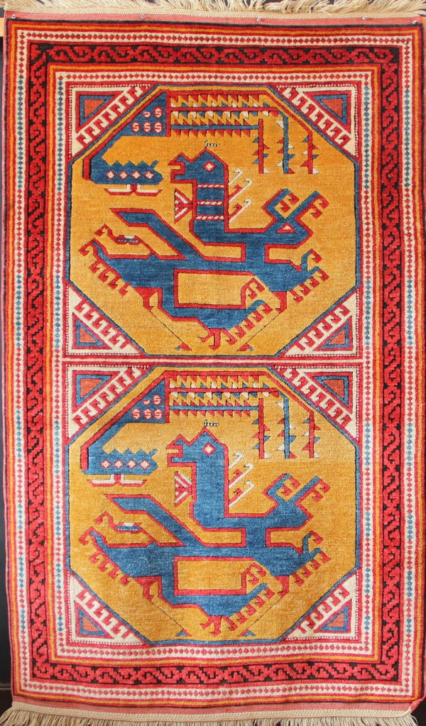 Reproduction of the 15th century Berlin Dragon & Phoenix rug