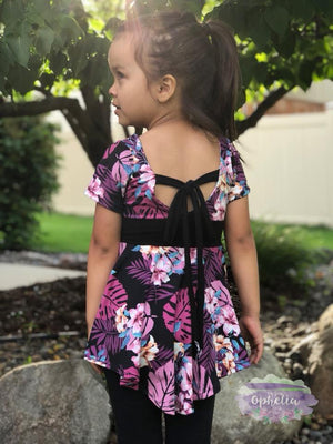 Amara Girls and Doll Tie Back Peplum BUNDLE