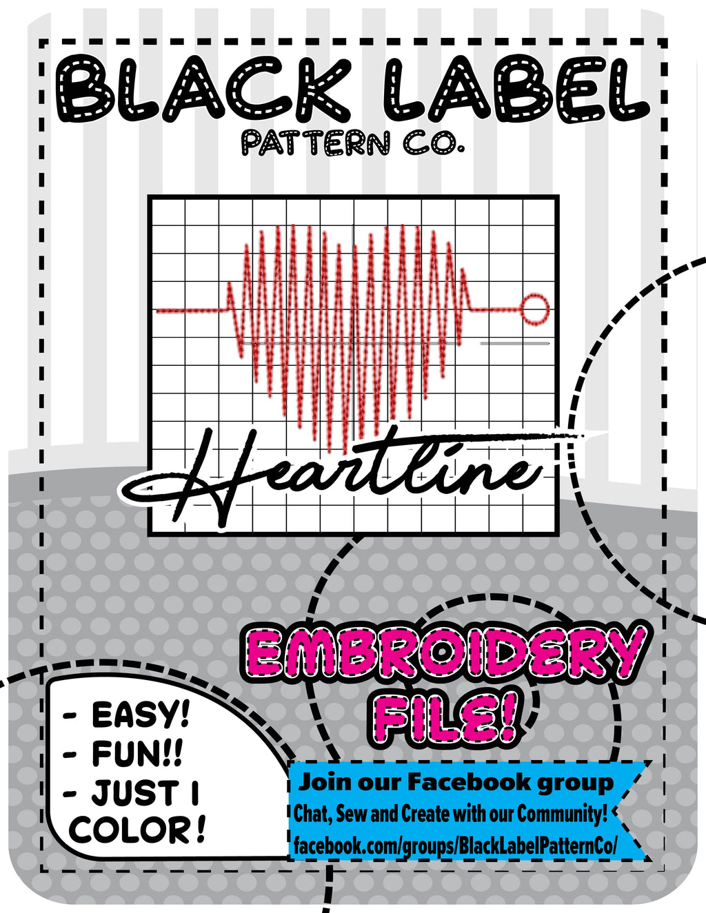 Heartline Embroidery File