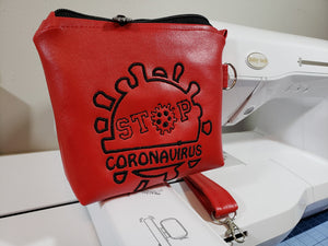 Stop Corona Virus Embroidery File