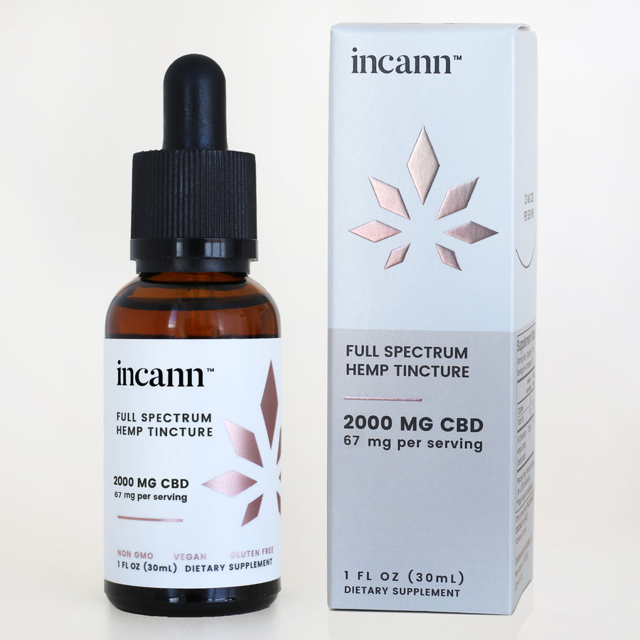 2000mg CBD tincture by incann