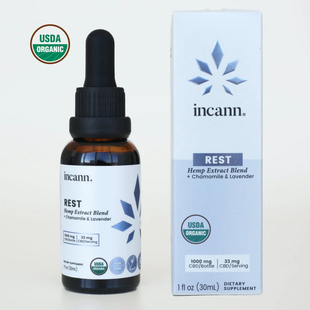 Rest Tincture 1000mg CBD - Whole Plant Extract 1
