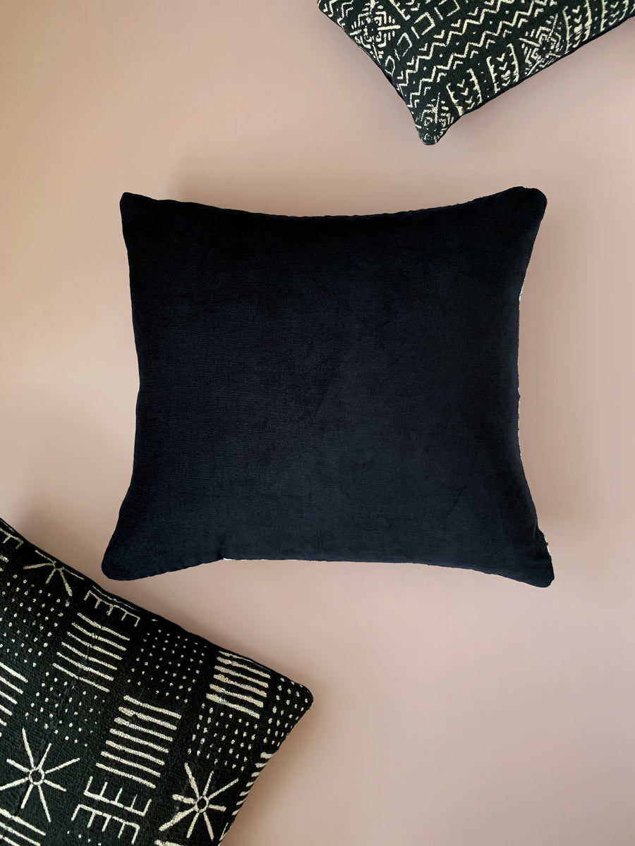 Siona Black Mudcloth Cushion           <br>45 x 45cm