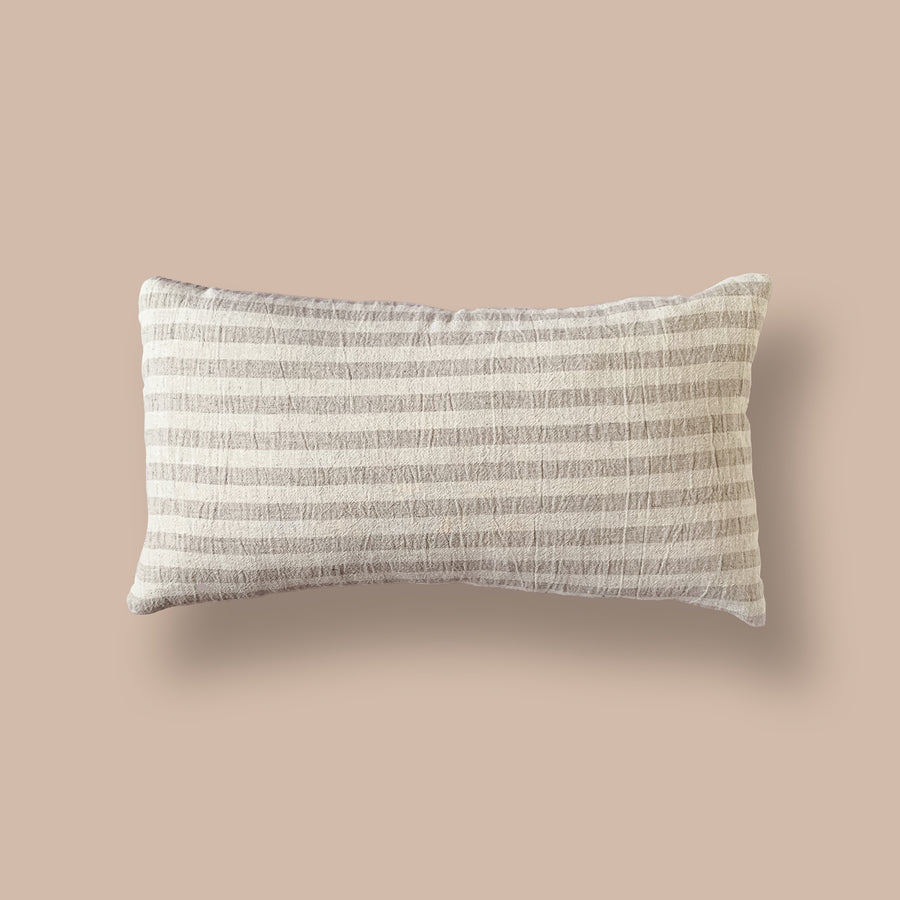 Cream Hmong Lumbar Cushion        <br>27 x 45cm