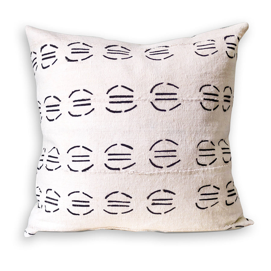 White Mudcloth Cushion           <br>45 x 45cm