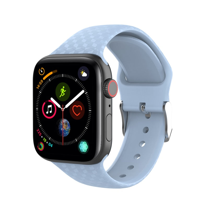 3D Texture Silicone Band For Apple Watch
