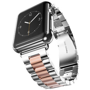 Stainless-Steel Butterfly Buckle Bracelet For Apple Watch