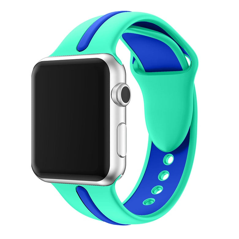 Active SILICONE Single Stripe Band  For Apple Watch