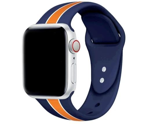 Active Silicone Color Stripes Band For Apple Watch