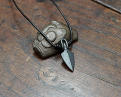 Forged Iron Arrowhead Pendant