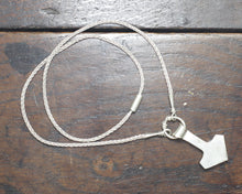 Load image into Gallery viewer, Large Forged Silver Thor's hammer Necklace, Reserved
