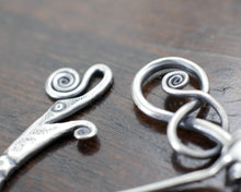 Load image into Gallery viewer, Silver Viking Dragon Pennanular Brooch by Taitaya Forge -detail
