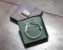Load image into Gallery viewer, Silver Viking Dragon Pennanular Brooch by Taitaya Forge - Gift Box