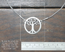 Load image into Gallery viewer, Silver Yggdrasil Tree Necklace by Taitaya Forge, Design by Marleena Barran - Size