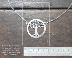 Silver Yggdrasil Tree Necklace by Taitaya Forge, Design by Marleena Barran - Size