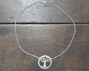 Silver Yggdrasil Tree Necklace by Taitaya Forge, Design by Marleena Barran