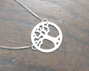 Silver Yggdrasil Tree Necklace by Taitaya Forge, Design by Marleena Barran - Back of the pendant