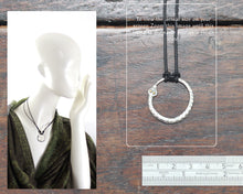 Load image into Gallery viewer, Silver Ouroboros Pendant