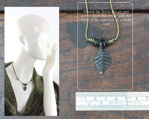 Forged Iron Black Leaf Pendant