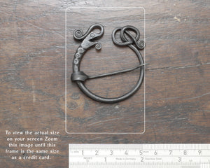 Iron Dragon Pennanular brooch