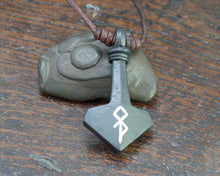 Load image into Gallery viewer, Large Modern Thor's hammer Pendant