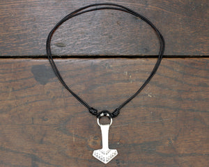 Large Forged Silver Thor's hammer Necklace