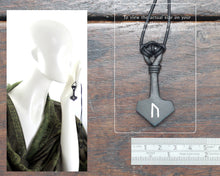 Load image into Gallery viewer, Uruz Rune Thor's Hammer Pendant