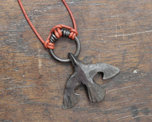 Load image into Gallery viewer, Black Iron Raven Pendant