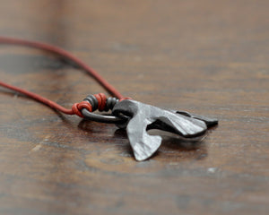 Black Iron Raven Pendant