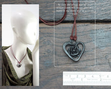 Load image into Gallery viewer, Iron Rose Heart Pendant
