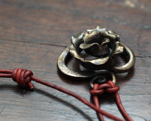 Iron Rose Heart Pendant