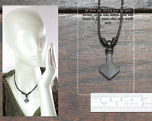 Load image into Gallery viewer, Small Modern Thor's Hammer Pendant