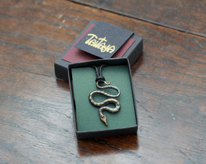 Small Iron Snake Pendant