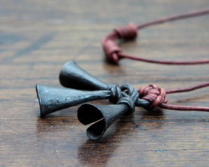 Iron Bell Charm Pendant Necklace