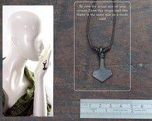 Load image into Gallery viewer, Small Viking Mjolnir Pendant