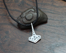 Load image into Gallery viewer, Historical VIking Thors hammer pendant forged out of silver