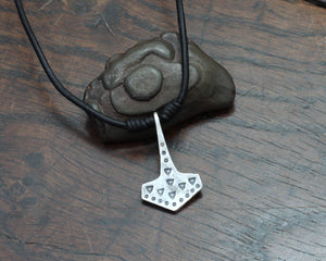 Historical VIking Thors hammer pendant forged out of silver