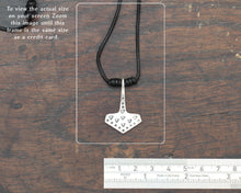 Load image into Gallery viewer, Historical Silver Thor's Hammer Pendant