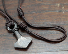 Load image into Gallery viewer, Small Iron Mjolnir pendant