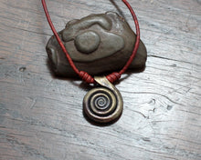 Load image into Gallery viewer, Forged Iron Spiral Necklace