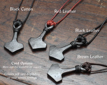 Load image into Gallery viewer, Large Iron Mjölnir pendant