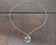 Load image into Gallery viewer, Forged Silver Rose Necklace
