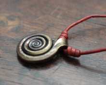 Load image into Gallery viewer, Forged Pure Iron Spiral Pendant