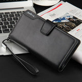 2 in 1 large capacity leather wallet / mobile phone bag - From Italian brands